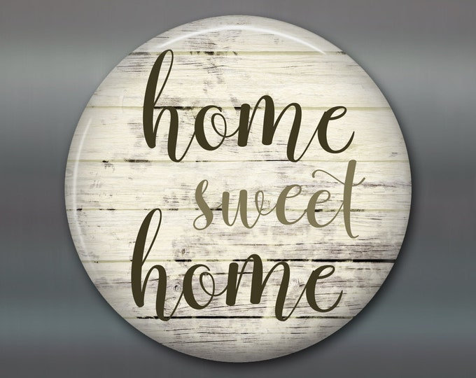 "3.5"" home sweet home refrigerator magnet - housewarming gifts with quotes -  rustic wood signs for the kitchen decor - MA-SIGN-5"