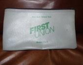 Bank Bag, Gray Zippered, Heavy Duty, First Union b2