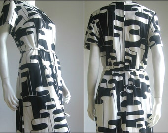 60s vintage op art dress