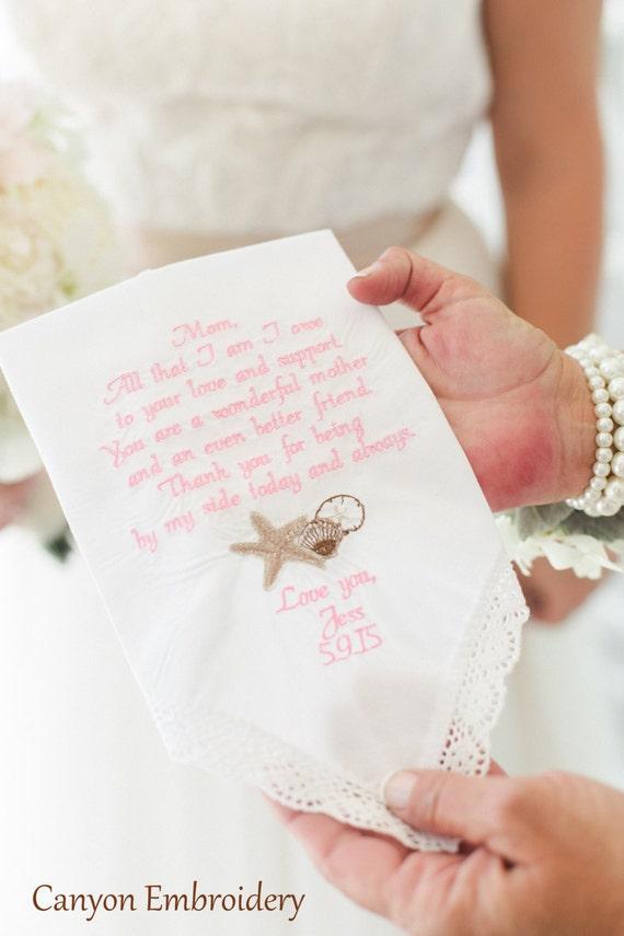 Wedding gifts hanky embroidered handkerchief
