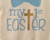 My first Easter onesie, first Easter baby boy onesie, baby boy Easter Onesie