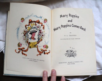 1960s  Mary Poppins and Mary Poppins Comes Back by P.L. Travers illustrated by Mary Shepard
