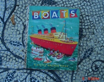Boats - a Little Golden Book- 1st Edition - Nice