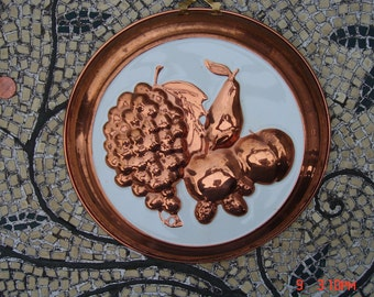 Vintage Copper Shoppe Wall Hanging/Collectible - Made in Korea