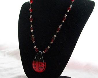 Ladies Ladybug Necklace