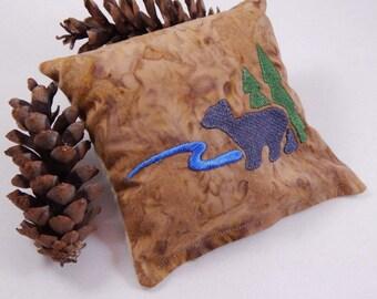 Balsam Sachet, Bear Balsam Pillow, Bear, Tree, Mountain, Made in Maine, USA