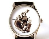 SALE 25% OFF Watch White Rabbit, Alice in wonderland, mens watch, ladies watch