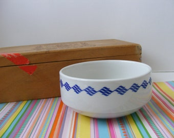 Royal Doulton Hotelware, Small Bowl, Cobalt Blue, Restaurant Ware, Steelite England, Geometric Design, Cat Bowl