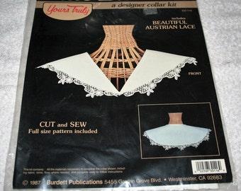 Dale Burdett Designer Collar Kit (cut and sew pattern) includes austrian lace