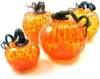 """5"""" Blown Glass Pumpkins"""