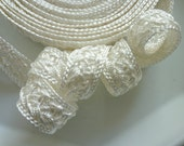 Moroccan trim, cream art silk , woven, 5 metres