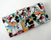 Handmade women wallet - My friend Mickey - Vintage mouse Mickey - custom order - ID clear pocket - gift for her - Cute handmade mouse purse