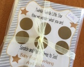Twinkle Twinkle Little Star Gender Reveal, Set of 12 Scratch off Cards for a Baby Shower or Gender Reveal Party Stars