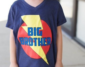 New BIG BROTHER Superhero T-SHIRT - Match to our Big Brother Cape - Fast shipping brother t shirt design - Sibling Gift - Big brother gift