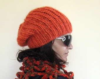 CLEARANCE SALE - 50% OFF- Knit Hat / Chunky Beanie Knit Hat / Rts /Sale