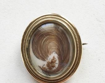 Victorian Hair Locket Brooch Brooch Original