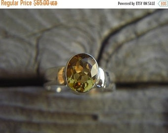 ON SALE Citrine ring in sterling silver