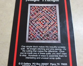 Magic Triangle Template with Pattern, One simple block for many scrappy settings