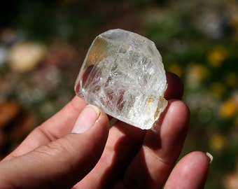 Topaz Double Terminated Crystal High Quality Specimen with Rainbows