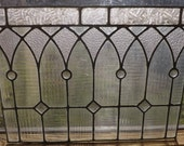 Antique Stained Glass Window American Victorian Jeweled
