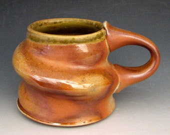 ANAGAMA MUG - Wood Fired Mug - Woodfired Mug - Wood Fired Pottery - Wood Fired Coffee Mug