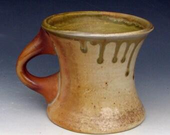 WOOD FIRED MUG #36 - Ceramic Mug - Stoneware Mug - Large Mug - Wood Fired Pottery