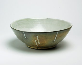 Serving Bowl with White Rectangles