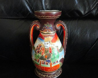 Vintage Vase Satsuma Moriage Kutani Marked Made In Japan