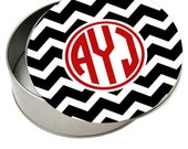 Personalized Tin Container Monogrammed Cookie Tin Design  Your Own