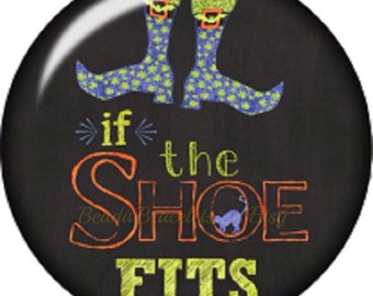"Snap charm for Noosa & Ginger Snaps Jewelry...20 mm ""If the Shoe Fits"" snap charm"