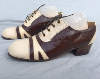 vintage 70's italian shoes STUART HOLMES costume crafted man mens size USA 8 1/2 leather shoes by thekaliman