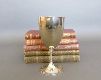 Antique Silver Plate Goblet Trophy from England - Athletic Trophy -  1888 Loving Cup