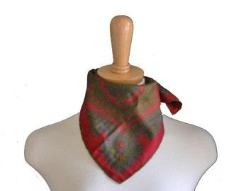 30% off sale // Vintage 70s Maroon Paisley Handkerchief - Silk by Damon - Menswear