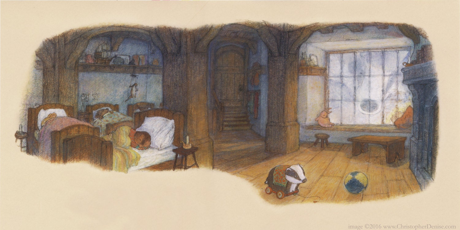The creatures of Redwall sleep.