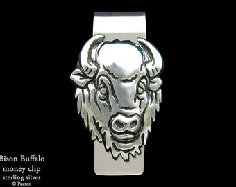 Bison Buffalo Money Clip Sterling Silver