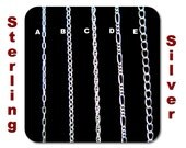Dainty Sterling Silver Chain for Customized Necklace, Choker, Bracelet, Anklet Jewelry