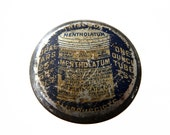 Small Mentholatum Tin, Advertising Tin, Vintage Medicine Tin, Round Tin