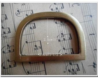"10pcs 1.5 inch (inner diameter) D alloy buckles 1.5"" D Flat Rings, antique brass Finish, , 1-1/2"""