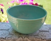 Shabby Chic Mid Century Modern 8 Inch McCoy Turquoise/Aqua Pottery Bowl