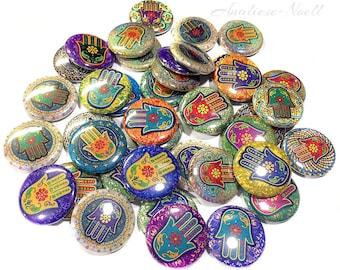 "Hamsa, 1"" Buttons, Hamsa Buttons, Hamsa Pins, Hamsa Flatbacks, Hamsa Hand, Hamsa Theme, Hamsa Party Favor, Hamsa Embellishment, Pinbacks"
