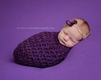 Purple Newborn Baby Cocoon Photography Prop
