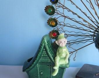 Vintage Elf Planter - Treasure Craft Ceramic Pixie Planter - Sprite