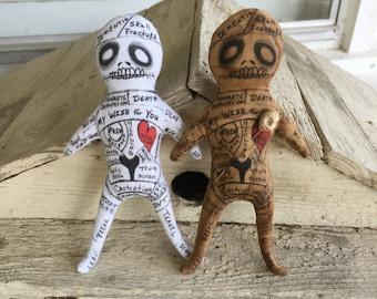 Original Art Handmade Personalized Voodoo Doll Poppet Fetish Tarot Spirit Figure Free Shipping