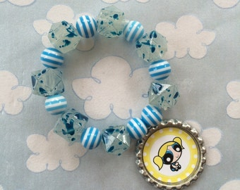 The PowerPuff Girls Bubbles Stretch Bracelet
