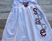 MSU state pawprint dress for girls