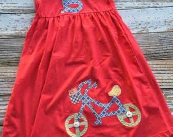 Spring bike ride knit dress