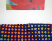 Retro Crochet Lobelia Granny Squares BLANKET Afghan - Final Installment Installment