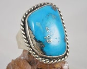 Huge Turquoise Sterling Silver Ring
