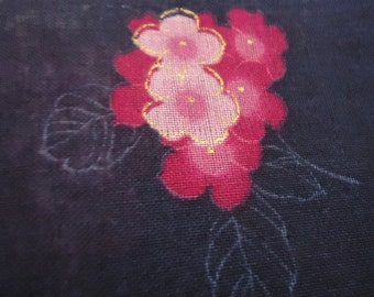Vintage Japanese Handkerchief. Beautiful Flower Design