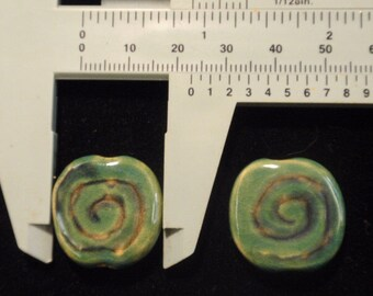 Fair Trade Kazuri Beads, 2 beads, 23mm